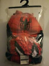 NWOT Marvel Ultimate Spider-Man Deluxe Muscle Costume Boys M (8-10) mask/gloves