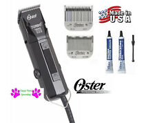 Oster PRO TURBO 111 CLIPPER SET #1 & #000 BLADE Heavy-Duty Hair Stylist Barber