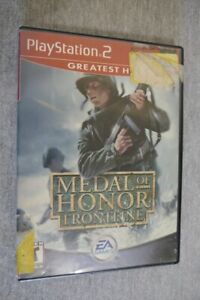 Medal Of Honor Frontline (Sony PlayStation 2, 2003) PS2 Video Game Book & Case