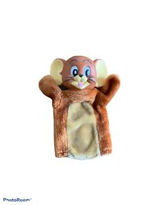 """Rare Vintage 1989 Jerry Mouse (of Tom and Jerry) Hand Puppet 12"""" With Vinyl Head"""