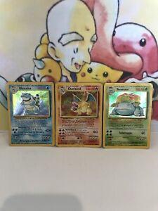 Base Set Trio Charizard Blastoise Venusaur (ITALIAN) Pokemon Holos THE BIG 3