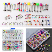 Wholesale Mix Lip Piercing Body Jewelry Barbell Ring Tongue Ring 60 pieces