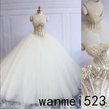 Princess Sweetheart Wedding Dress Corset Luxury Pearl 2017 Sexy Bridal Ball Gown