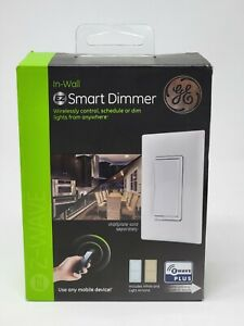 GE SMART ZIMMER, IN-WALL Z-WAVE PLUS, WHITE & LIGHT ALMOND ZW3005 NEW