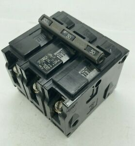 Gould ITE Siemens Q350 3 Pole 50 Amp 240VAC Type QP Plug In Molded Case Breaker