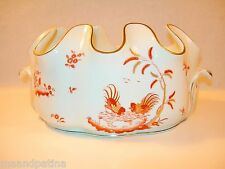 """INCREDIBLE RICHARD GINORI SIENA RUST LARGE 12"""" SCALLOPED ROOSTERS MONTEITH BOWL"""