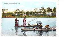 Seminole Indians  On Canoes  @ 1915-20