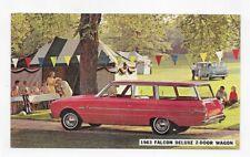 1963 FORD FALCON DELUXE 2 DOOR WAGON DEALER ADVERTISING Post Card #1694