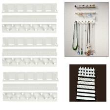 9PCS Adhesive Jewelry Organizer Storage Hooks Necklace Wall Hanging Hanger White
