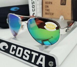 "COSTA DEL MAR gold/green mirror ""SOUTH POINT"" POLARIZED 580P sunglasses NEW!"