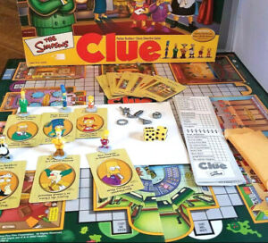 The Simpsons Clue Replacement Parts Pieces 2002 Hasbro Detective Board Game