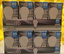 6 LED TCP A19 Soft White DIMMABLE 9.5 W = 60 Watt 2700K Light Bulb Great Value