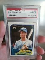 1989 Topps Traded Ken Griffey Jr Rookie PSA 9 Mariners Reds