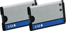 2x Battery for Blackberry C-S2 CS2 C S2 8300 8310 8320 8330 8520 8530 9300 9330