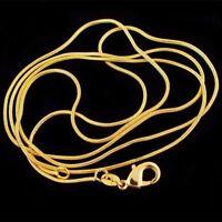 collar cadena Serpiente oro 18K hombres  mujer 68 cm  joyería