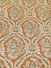 Vintage Wallpaper Chinoiserie Oriental Gold & Green by Motif