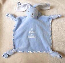 Tartine et Chocolat***Doudou lapin bleu tendre tout doux comme neuf