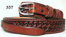 New Genuine Cowhide Leather Ranger Belt Brown Size 44