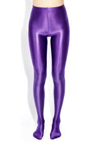 Women Sexy Shiny Pantyhose Satin Bodystockings Yoga Tights Plus Size Dancewear
