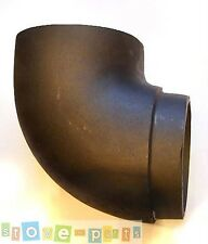 """6"""" 90° Quality Solid Cast Iron Bend Stove Flue Pipe"""