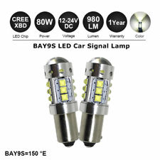 2 x 80W H21W BAY9s 435 Cree XB-D LED High Power Backup Reverse DRL Light CANBUS