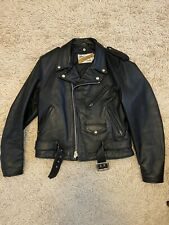 Schott Perfecto 618 Leather Biker Jacket Size 40 Made In USA