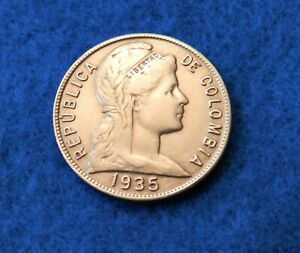 1935 Colombia 5 Centavos - Nice Older Coin - See Pictures