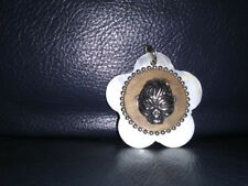 Shaped Pendant new never worn Demon Skull Charm on Pearlescent Flower