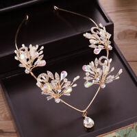 Luxury Wedding Bridal Rhinestone Crystal Pearl Crown Tiara Hair Band Headband