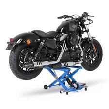 Ponte sollevatore alza moto ConStands Mid-Lift blu idraulico cavalletto Custom