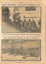 Prisoners Felgrauen à Roanne /Canons Deutsches Heer Fort de Vincennes WWI 1914