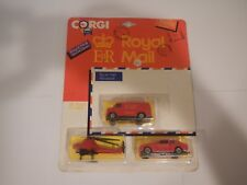 Vintage Corgi Royal Mail U.S. Van Royal Mail, Helicopter & Ford Escort Datapost