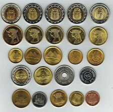 Egypt 24x 5 each = 120 Coins Uncirculated, King Tut, Cleopatra, Pyramids& More