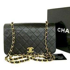 CHANEL Quilted Matelasse 23 Full Flap CC Logo Lambskin Chain Shoulder Bag /B0567