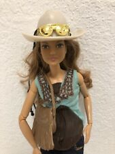 Brunette Fashionista Cowgirl OOAK Barbie Doll Hybrid Articulated Made to Move