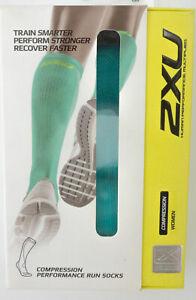 2XU Compression Performance Run Socks Women's XS IGR/IGR Green WA2443e