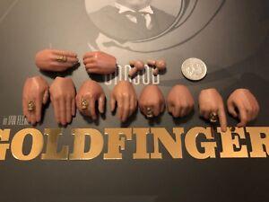 Big Chief Studios James Bond Goldfinger Oddjob Hands x 10 loose 1/6th scale