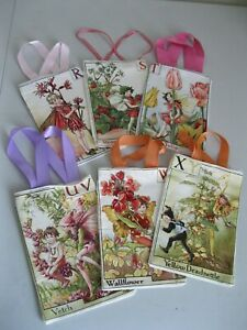fabric gift bag Cicely Barker Flower Fairies choice alphabet letters R  T V W Y