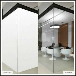 Clear to Opaque Smart Glass Film Self-adhesive Smart Material Privacy A4 testing