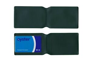 1 x Forest Green Plastic Oyster Card Wallet / Holder / Cover