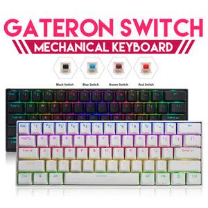 FEKER 60% Wireless Mechanical Gaming Keyboard RGB Backlit bluetooth Type-C Wired
