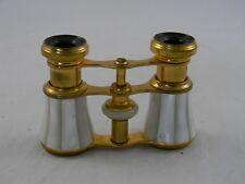 Vintage Antique Paris Opera Binocular Gold & Pearl