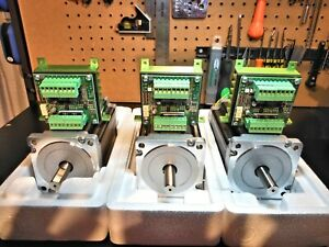 Gecko GR214v Raptor Drives/Heatsinks 3 & 3 Nema 34 1700oz 5a Steppers
