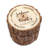Personalized Wedding Ring Holder Wood Ring Bearer Box Custom Wedding Ring Box