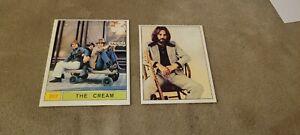 1967 & 1972 Panini Cantanti Eric Clapton Cream lot nice condotion
