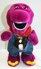"""Barney the Dinosaur Plush Farmer in Overalls with Horse Toy 12"""""""