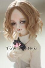 1 3 8-9 Bjd wig MSD/ MDD Luts Obitsu60 DD Doll brown wig hair
