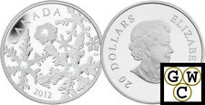 2012 Crystalized Holiday Snowstorm Prf $20 Silver Coin .9999 Fine *No Tax(13078)