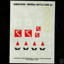 Astra Militarum Leman Russ A Etiquetas Transferencias Adhesivos Warhammer 40k