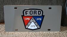 Ford retro emblem vanity license plate tag stainless steel